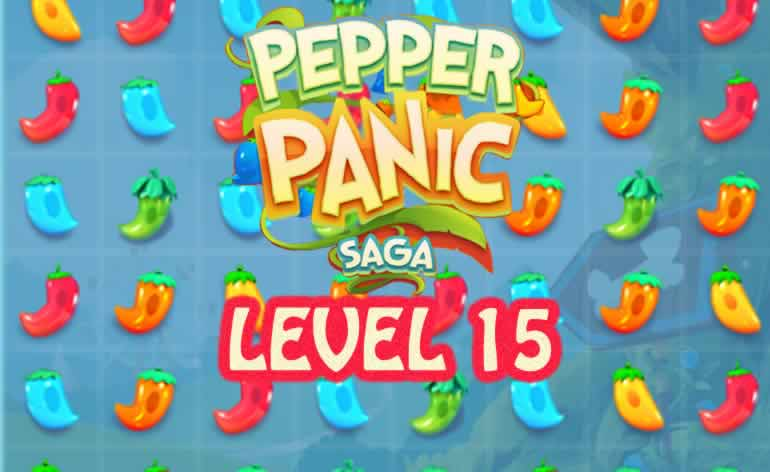 Pepper Panic Saga Level 15