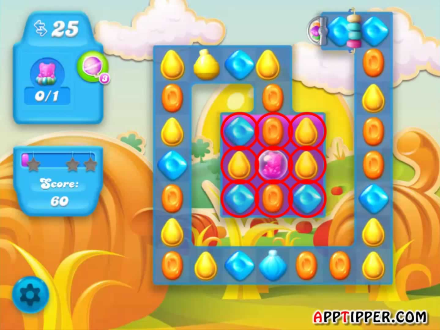how to pass 1642 candy crush