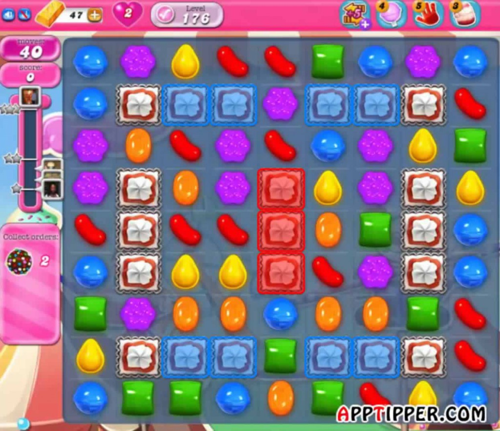 Candy Crush Level 176 Image