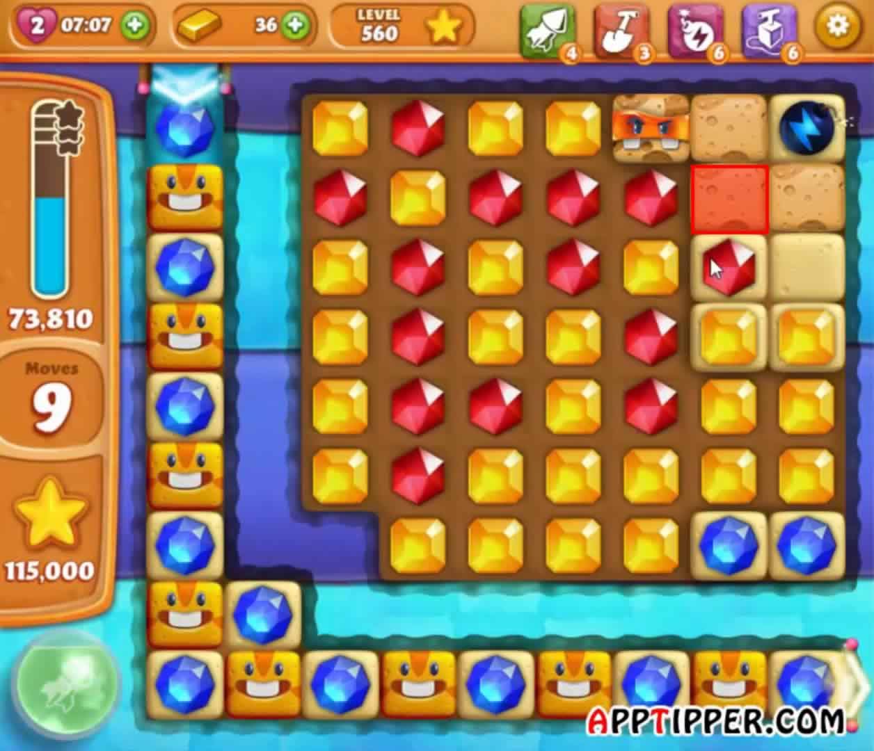 how to pass level 560 on candy crush saga