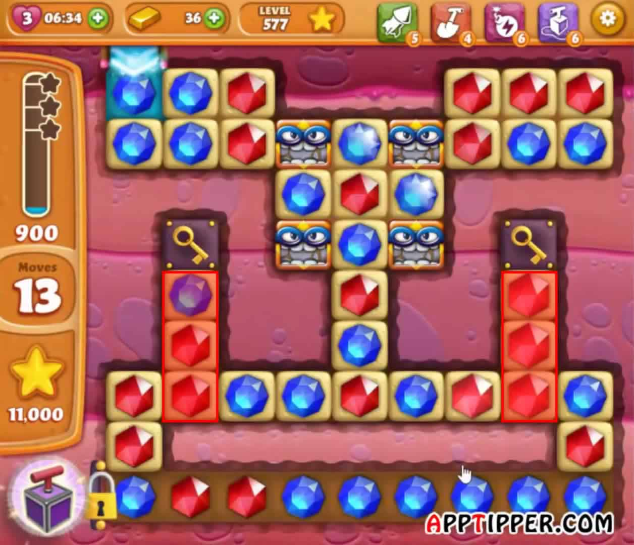 how to move from level 978 on cookie jam