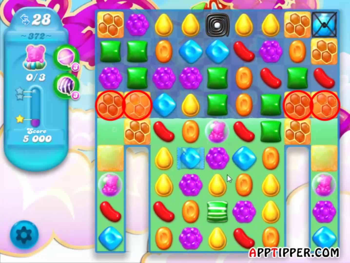 how to play candy crush saga level 372