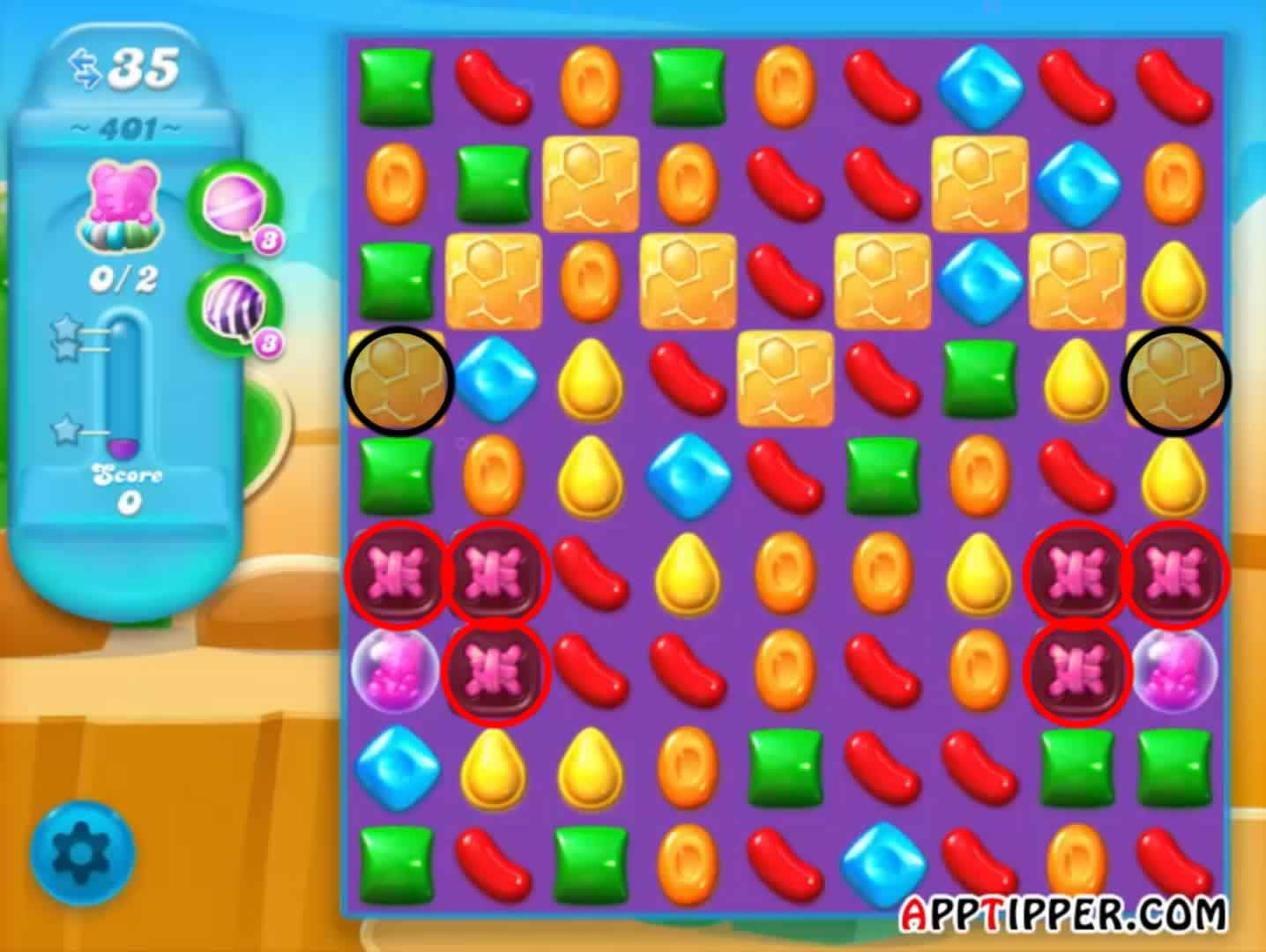 how to make color bombs in candy crush soda