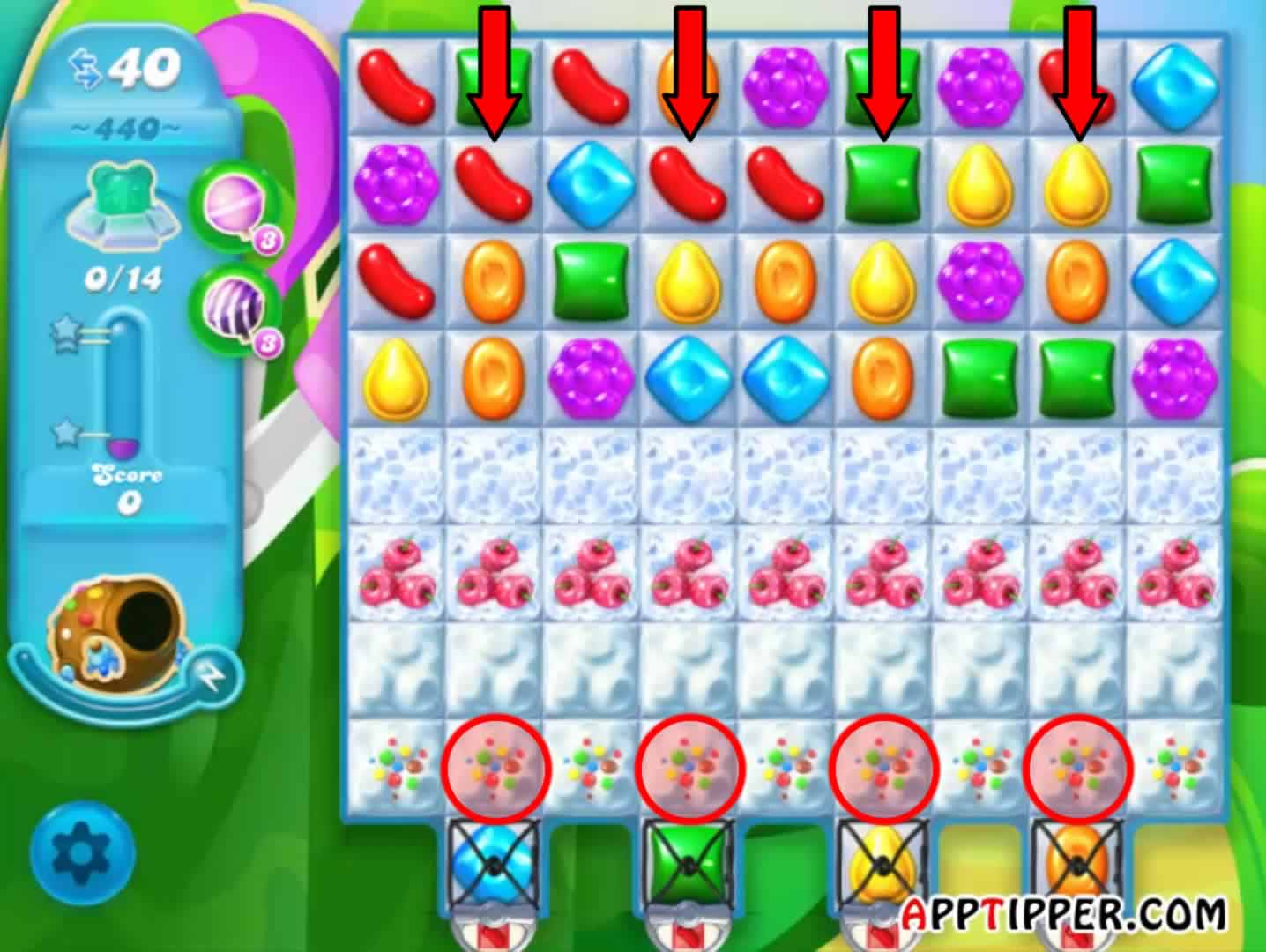 how to create a color bomb in candy crush soda