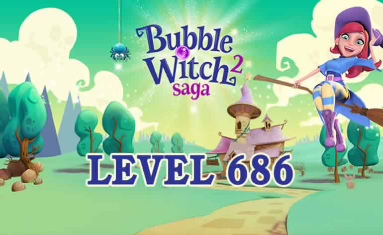 Bubble Witch 2 Saga Level 686