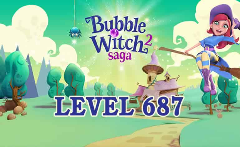 Bubble Witch 2 Saga Level 687