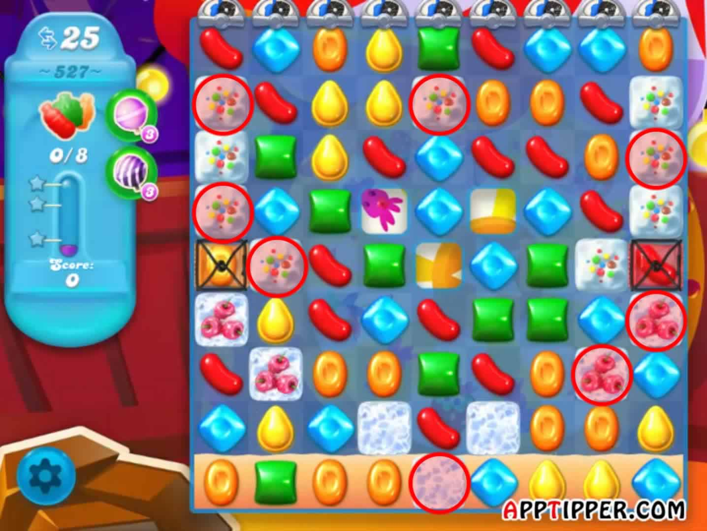 image While playing candy crush