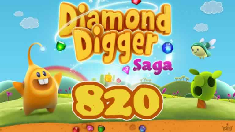 Diamond Digger Saga Level 820
